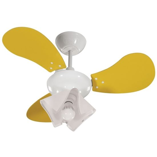 imagem de Ventilador de Teto Greco 220v 3 Pás Amarelas 130w - Tron Ventiladores