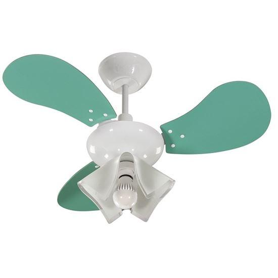 imagem de Ventilador de Teto Greco 127V 3 Pás Verdes 130w - Tron Ventiladores