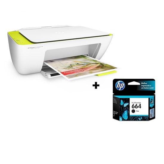 imagem de Multifuncional HP Deskjet Ink Advantage 2136 + Cartucho 664 Preto (F5S30A#AK4, F6V29AB)