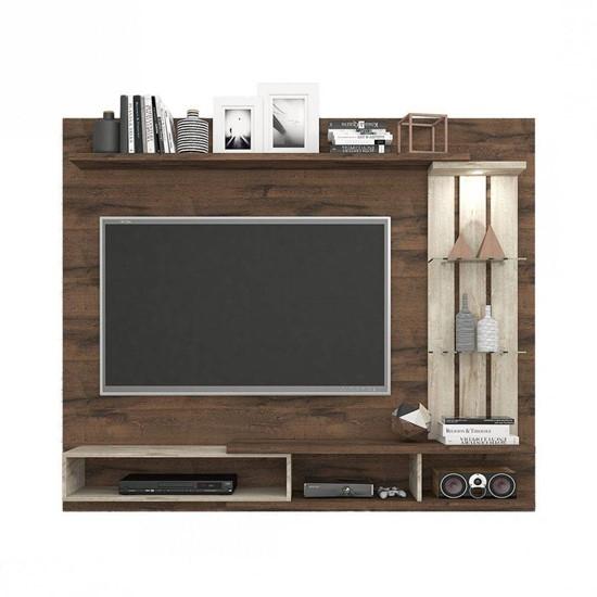 imagem de Painel para TV até 50 Polegadas com LED Vitória Café/Rústico - Permobili