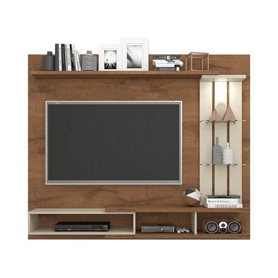 imagem de Painel para TV até 55 Polegadas com LED Vitória Permobili - Savana/Off White