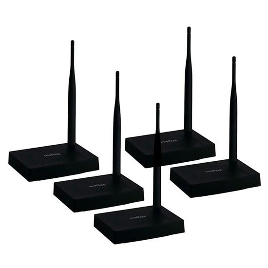 imagem de Kit com 05 Roteadores Mirage Antena Fixa 150Mbps 4 Portas Preto Bivolt - MR0001