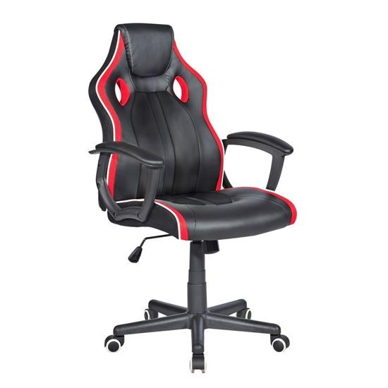 imagem de Cadeira Gamer com Base Revestida e Inclinação, Preta/Vermelha - HC-2594